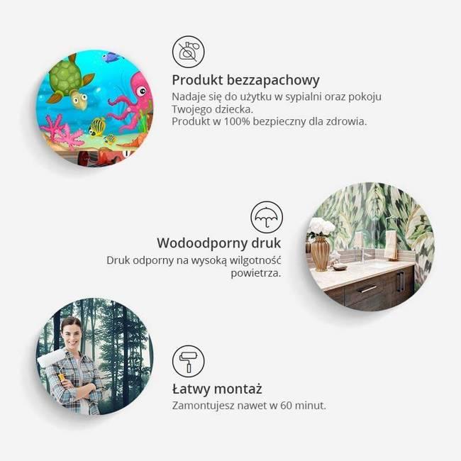 Fototapeta - Artystyczna mapa świata