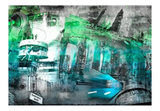 Fototapeta - Berlin - kolaż (zielony)