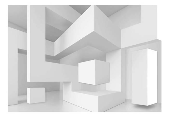 Fototapeta - Biała geometria