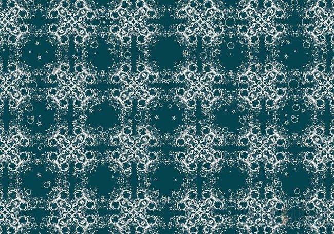 Fototapeta Białe ornamenty na turkusowym tle 2553
