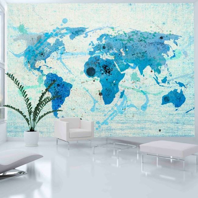 Fototapeta - Cruising and sailing -  The World map