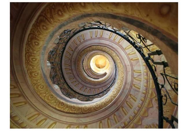 Fototapeta - Decorative spiral stairs