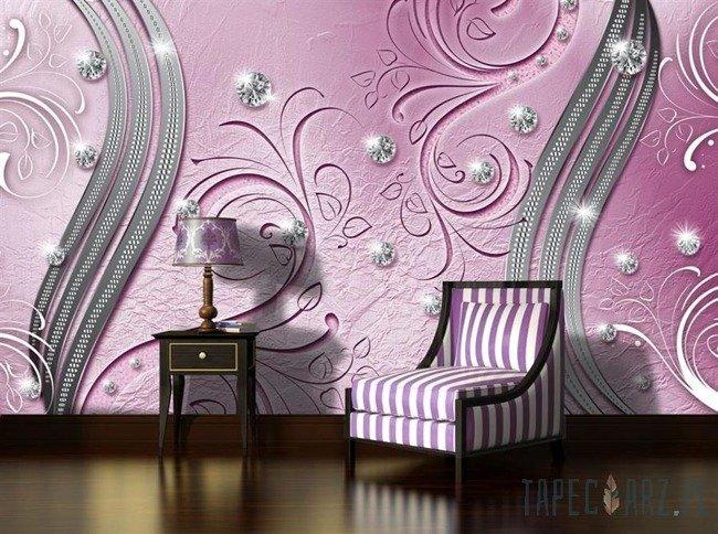 Fototapeta Diamentowy wzór na różowym tle 2013