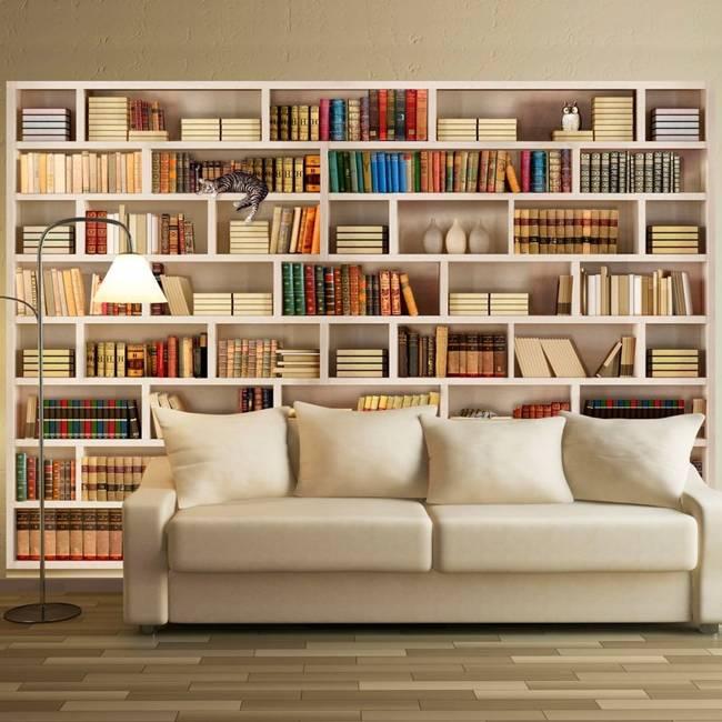 Fototapeta - Domowa biblioteczka