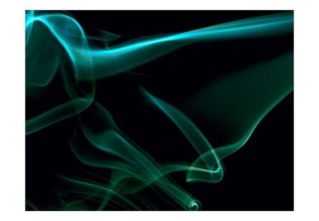 Fototapeta - Falujący niebieski dym