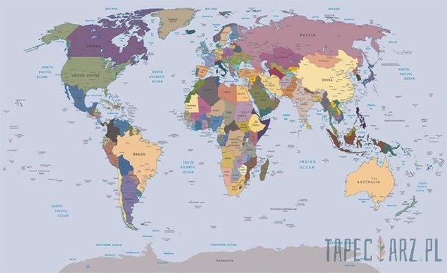 Fototapeta Fizyczna mapa świata 2142