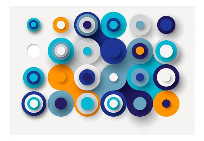 Fototapeta - Geometria niebieskiego koła