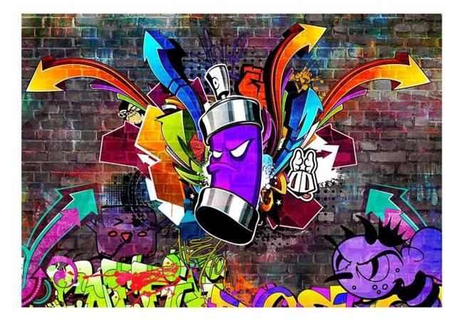 Fototapeta - Graffiti: Kolorowy atak