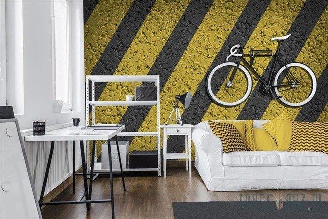 Fototapeta Imitacja droga - żółte pasy 3726