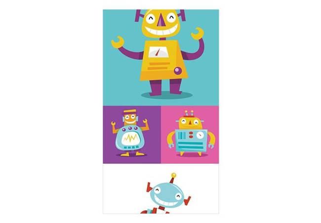 Fototapeta - Kolorowe Roboty