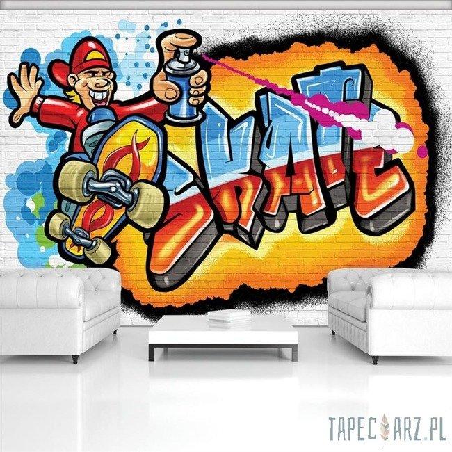 Fototapeta Kolorowe graffiti Skate 3052