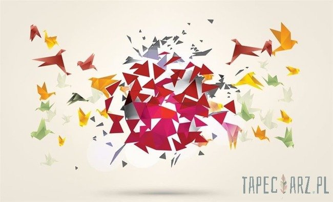 Fototapeta Kolorowe origami - ptaki 2163