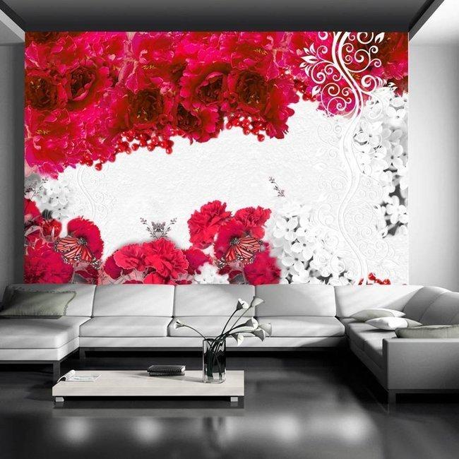 Fototapeta - Kolory wiosny: czerwony