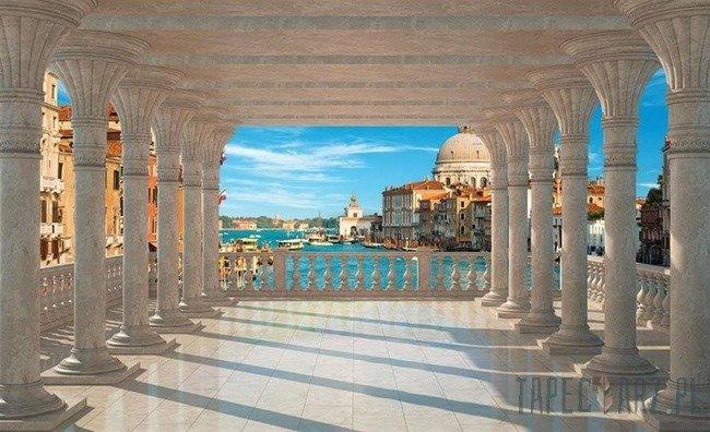 Fototapeta Kolumnada - widok na Wenecję 1358
