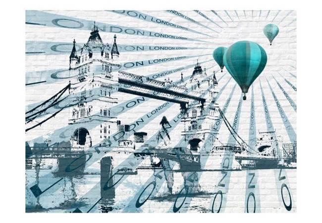 Fototapeta - Lot balonem nad Tower Bridge