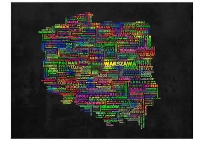 Fototapeta - Mapa Polski