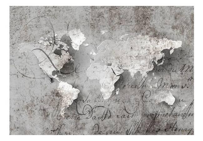 Fototapeta - Mapa i list