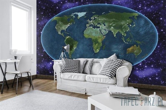 Fototapeta Mapa świata na tle kosmosu 10251