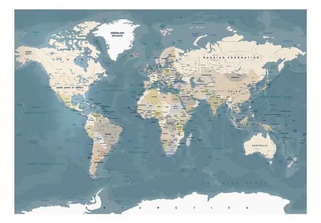 Fototapeta - Mapa świata vintage