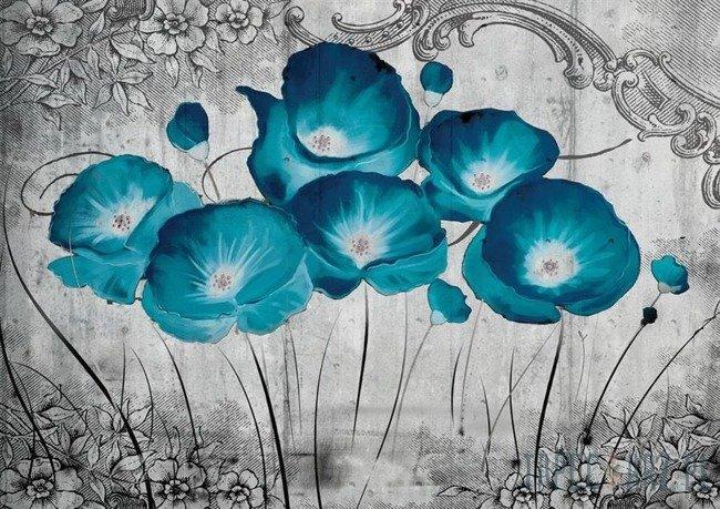 Fototapeta Niebieskie maki 2815