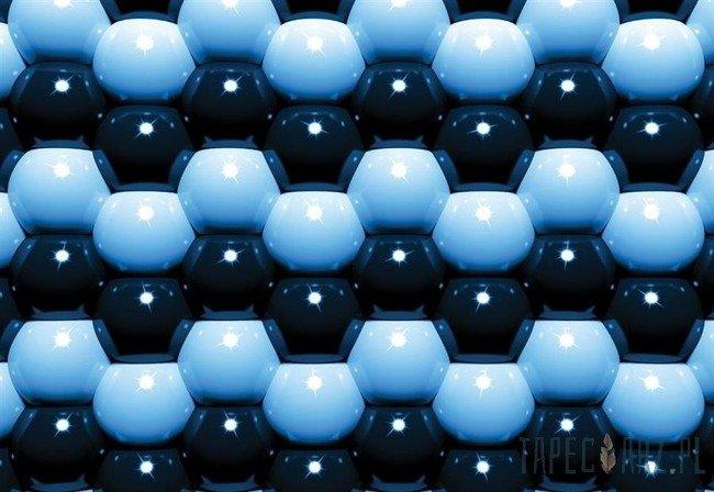 Fototapeta Niebiesko-czarna mozaika z kul 501