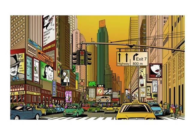 Fototapeta - Nowy Jork - miasto tętniące życiem