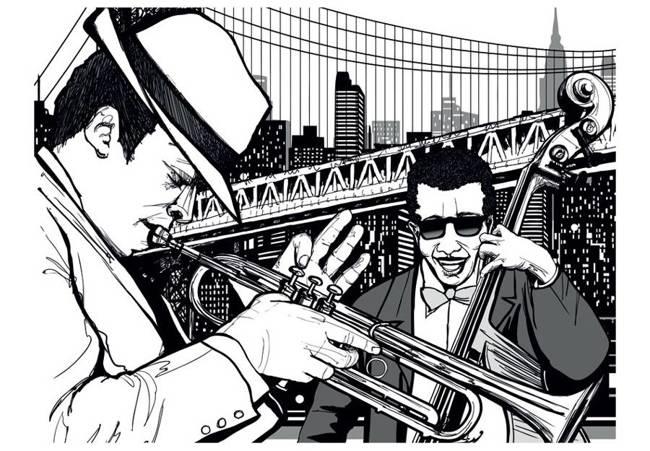 Fototapeta - Nowy Jork, muzyka, jazz...