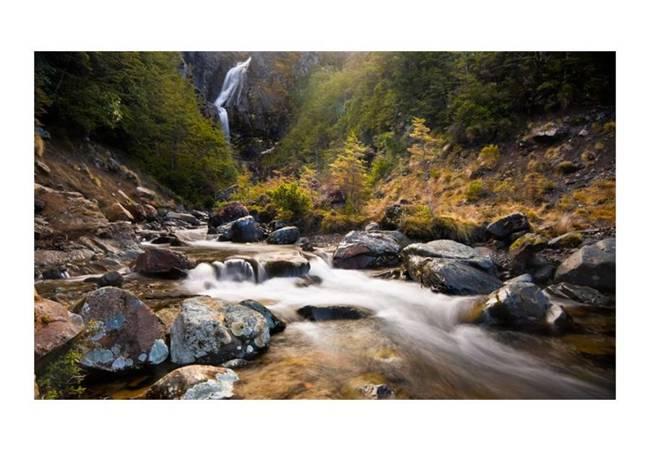 Fototapeta - Ohakune - Waterfalls in New Zealand
