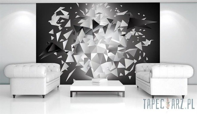 Fototapeta Origami - szara abstrakcja 2209