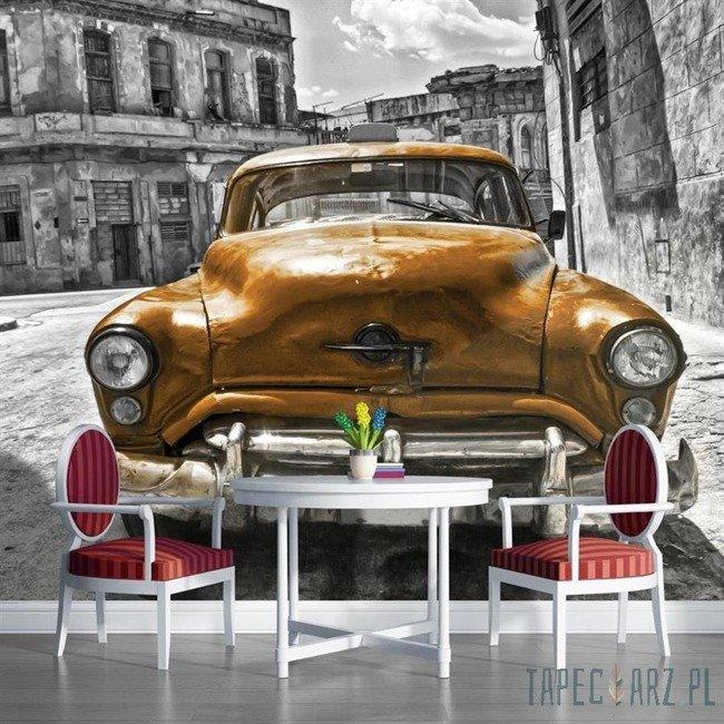 Fototapeta Pomarańczowy samochód - vintage 1179