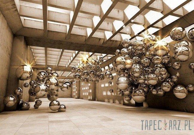Fototapeta Pomieszczenie 3D złoty modernizm 10396