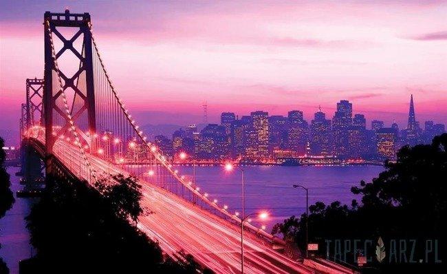 Fototapeta Różowy Golden Gate Bridge 417
