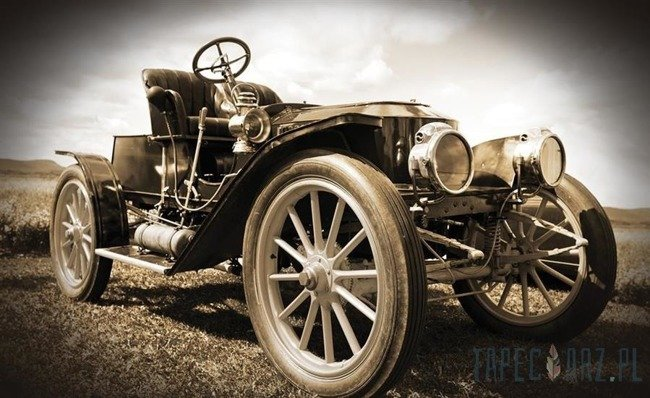 Fototapeta Stary samochód retro w sepii 505