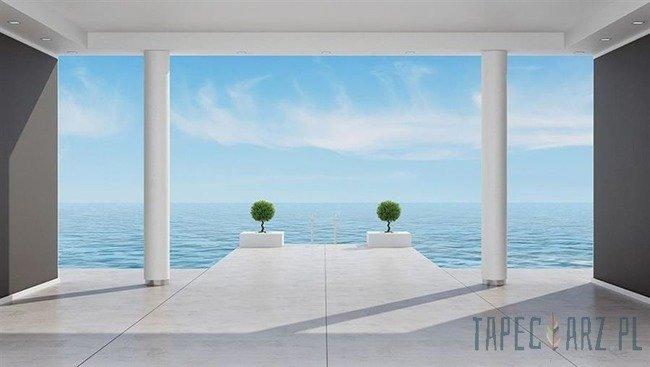 Fototapeta Taras z widokiem na morzem 1324