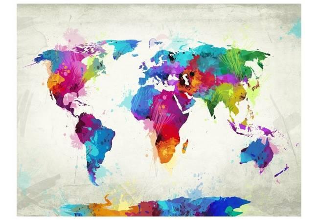Fototapeta - The map of happiness