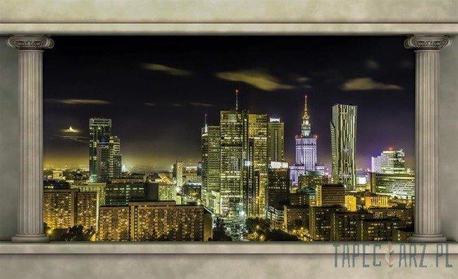 Fototapeta Warszawa nocą 2864