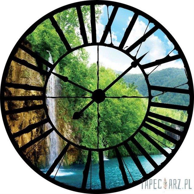 Fototapeta Widok przez zegar na wodospad 10201