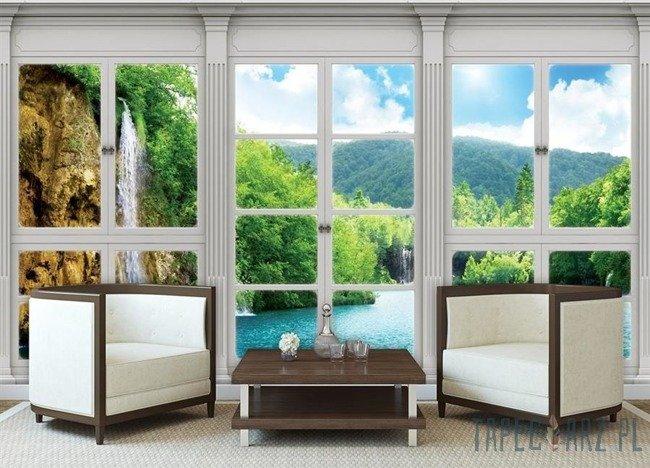 Fototapeta  Widok z okna na wodospad 10642