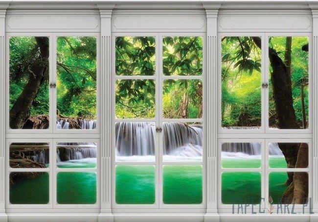 Fototapeta Widok z okna na wodospad 10645