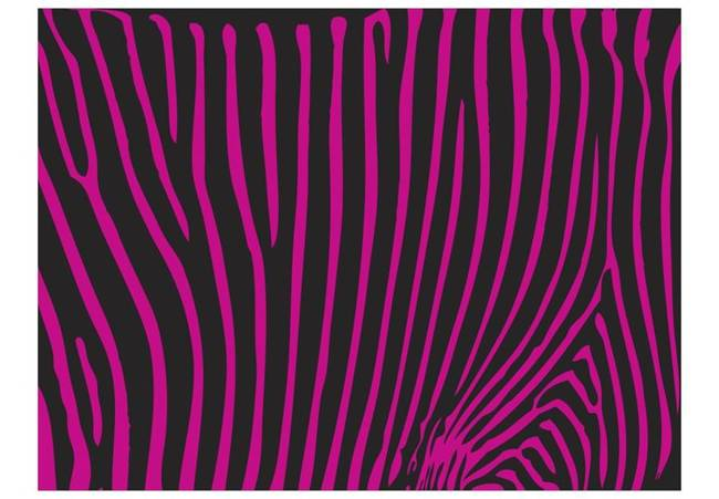 Fototapeta - Zebra pattern (fioletowy)
