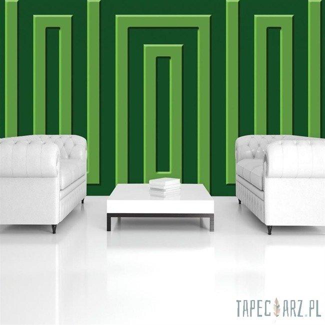 Fototapeta Zielony wzór geometryczny 865