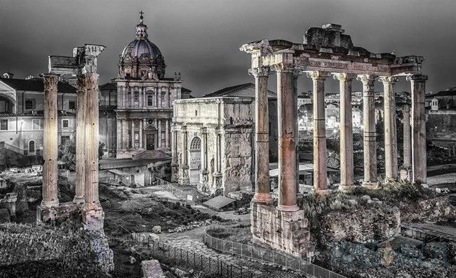 Fototapeta czarno-białe Forum Romanum 1334