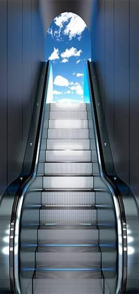 Fototapeta na drzwi - Ruchome schody