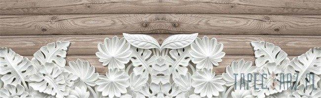 Fototapeta na flizelinie Alabastrowe kwiaty na deskach 10136VEE