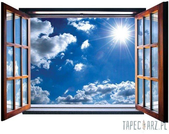 Fototapeta na flizelinie Błękitne niebo przez otwarte okno 2074