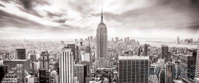 Fototapeta na flizelinie Czarno-biała panorama Nowego Jorku 2318VEP