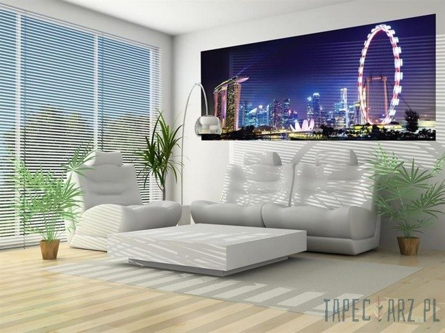 Fototapeta na flizelinie Diabelski młyn - Singapur 649VEP