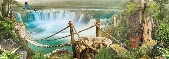 Fototapeta na flizelinie Most nad wodospadem 10515VEE