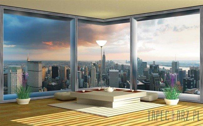 Fototapeta na flizelinie Widok na Nowy Jork przez okno 447VEE
