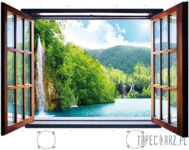 Fototapeta na flizelinie Wodospad przez otwarte okno 716